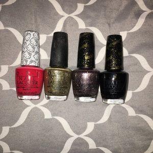 Lot of 4 OPI nail polishes!